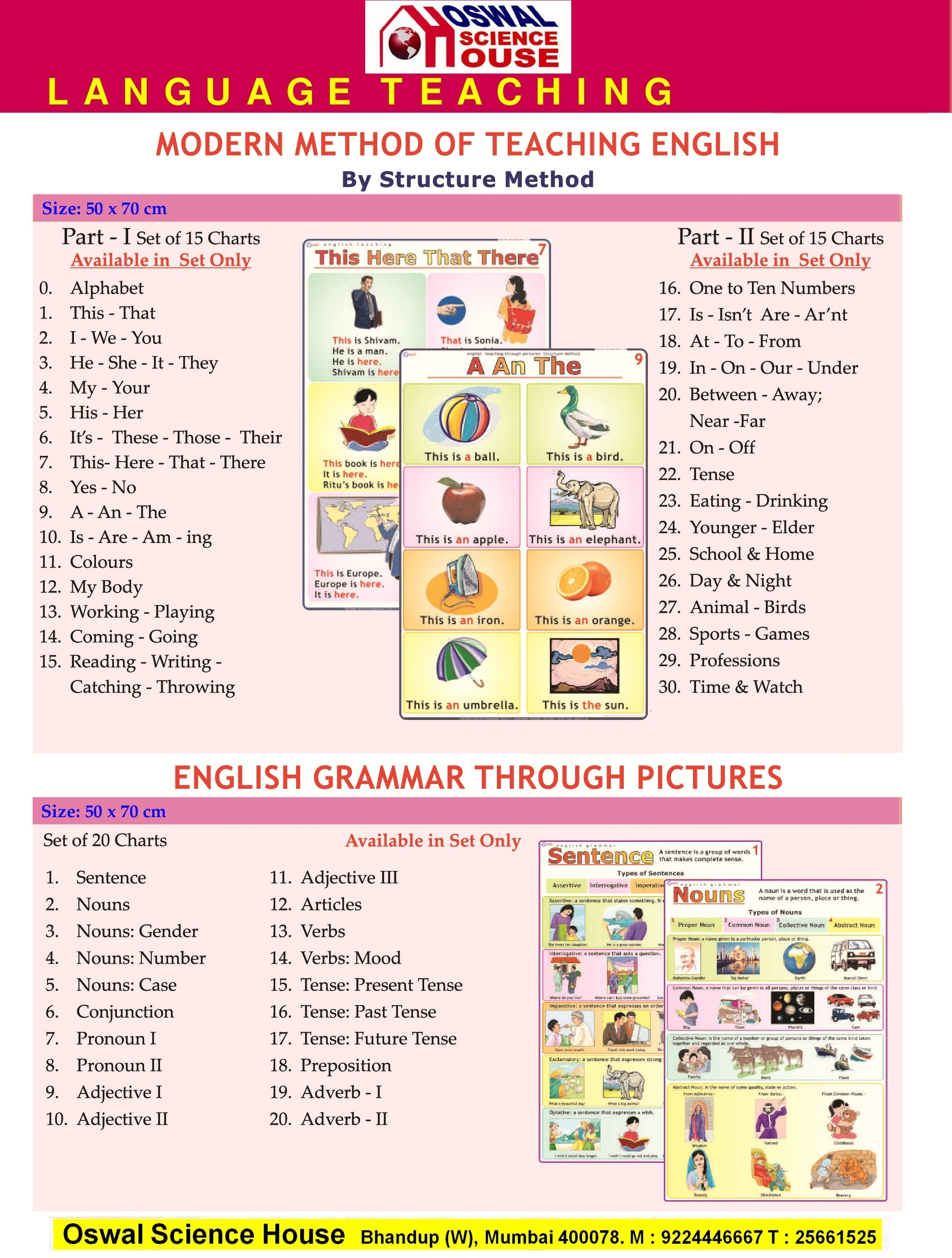 OSWAL SCIENCE HOUSE - Language Charts